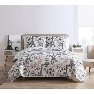 High Quality Wensley Paris Reversible Quilt Set