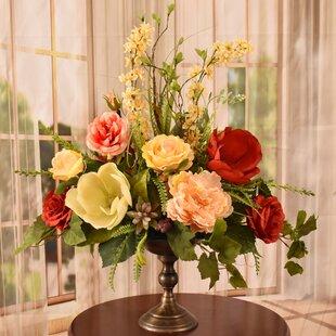 Floral Arrangements Magnolias Artificial Flowers Youll Love Wayfair