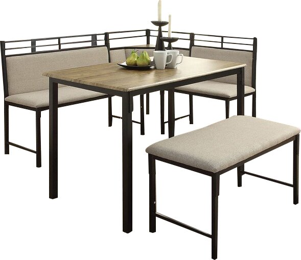 Moonachie Corner 3 Piece Dining Set Amp Reviews Allmodern