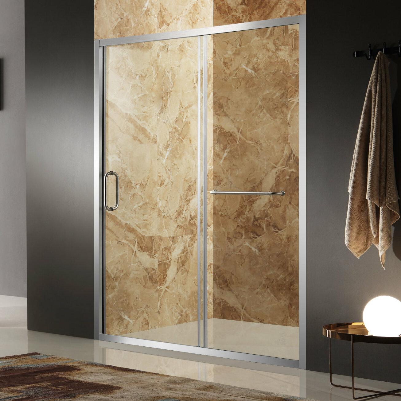 Anzzi Regent 48 X 72 Single Sliding Framed Shower Door Wayfair