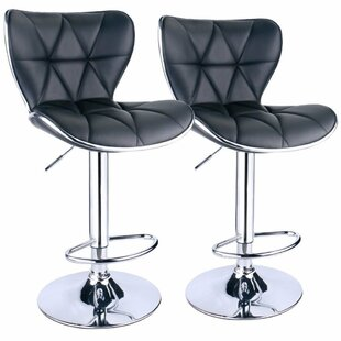 Ferri Back Adjustable Height Swivel Bar Stool