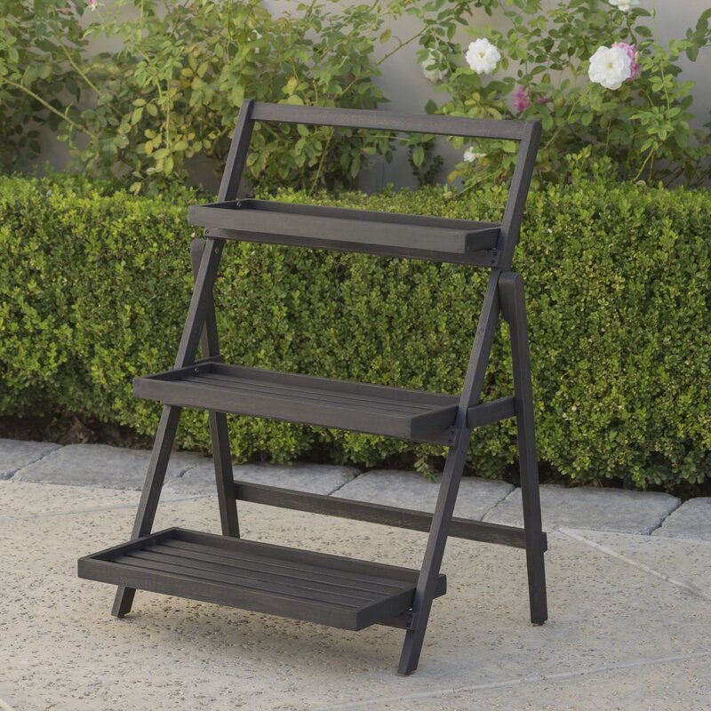 Goreville Modern Outdoor Multi Tiered Plant Stand