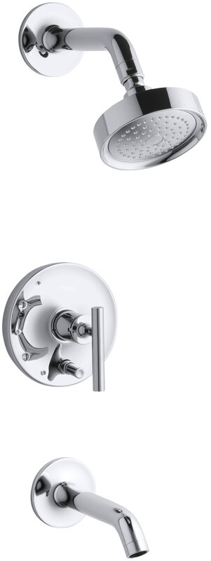 purist ritetemp bath and shower faucet trim with pushbutton