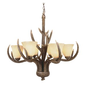 Burswood 6-Light Shaded Chandelier