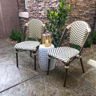 Hansley Bamboo Stacking Patio Dining Chair