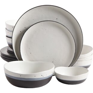 Thistle Double Bowl 16 Piece Dinnerware Set Service for 4  sc 1 st  AllModern & Dinnerware Sets - Modern \u0026 Contemporary Designs | AllModern