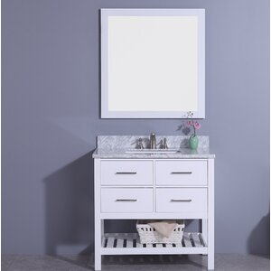 Alton 37 Single Bathroom Vanity Set with Mirror