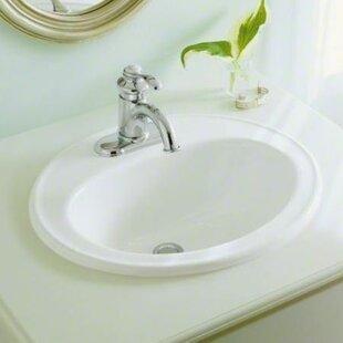 Save To Idea Board. +1. Kohler. Pennington Ceramic Oval Drop In Bathroom  Sink With Overflow