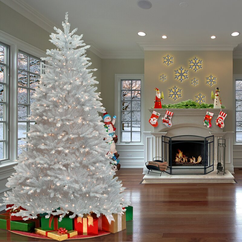 House Of Hampton Fir 90 Quot Hinged Tree With 750 Clear Lights