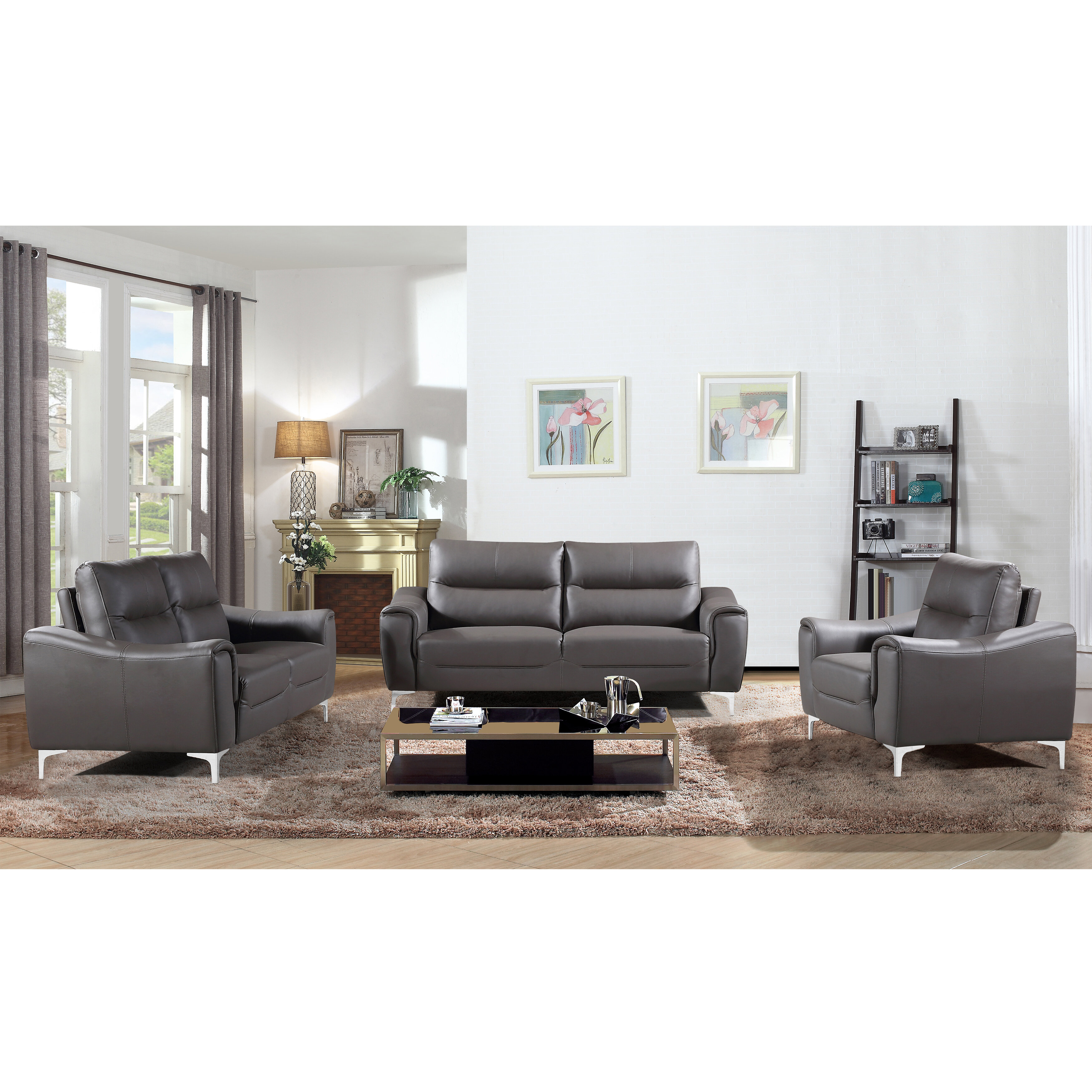 Orren Ellis Malissa 3 Piece Living Room Set & Reviews | Wayfair
