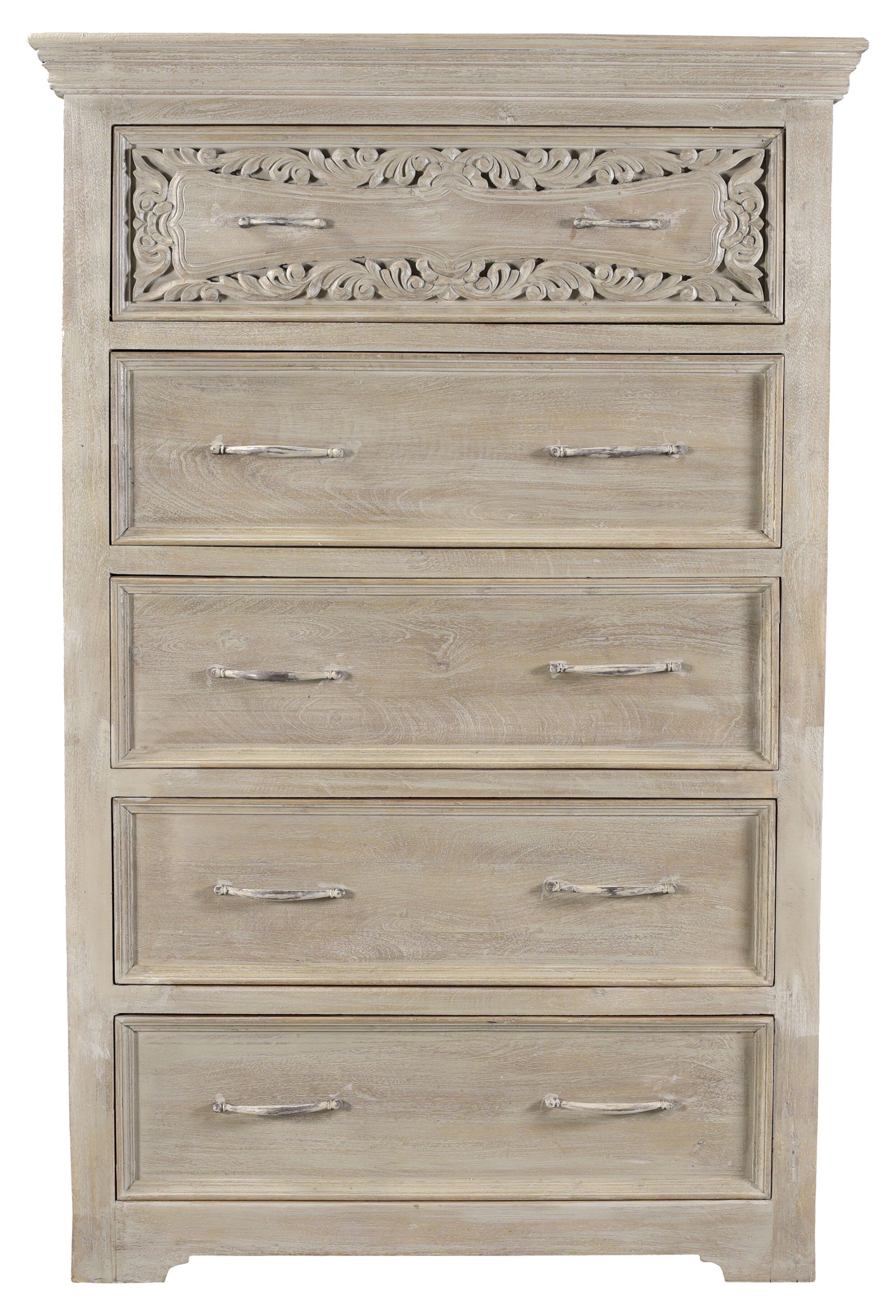 One Allium Way Patchway Carved 5 Drawers Chest | Wayfair