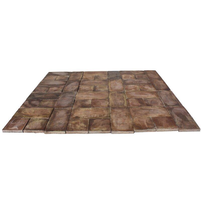 Natural Concrete Products Co Rundle Stone Concrete Patio
