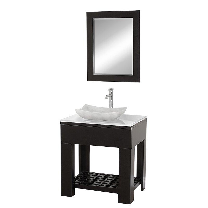 """Zen Bathroom Vanities wyndham collection zen ii 30"""" single bathroom vanity set with"""