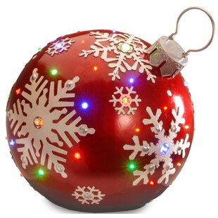 pre lit ball ornament