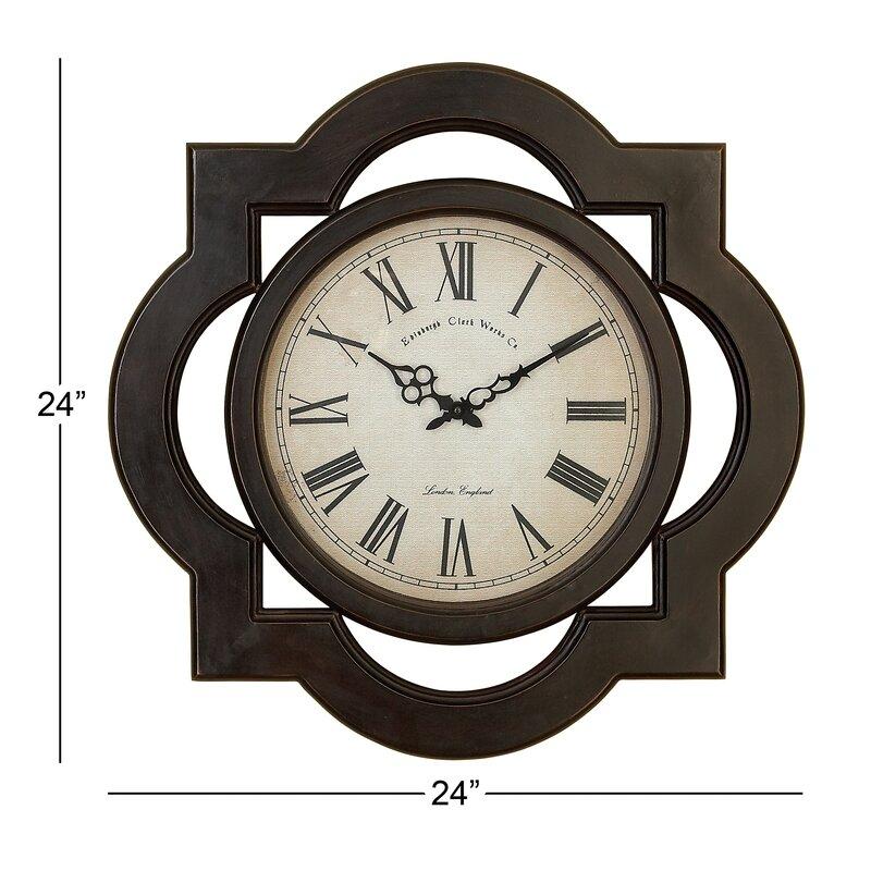 Cole Grey Wood Wall Clock Reviews Wayfair