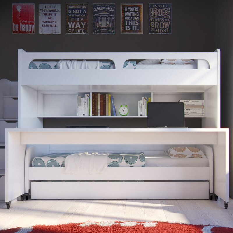 Surprising Gautreau Twin Over Twin L Shaped Bunk Bed With Trundle Download Free Architecture Designs Scobabritishbridgeorg