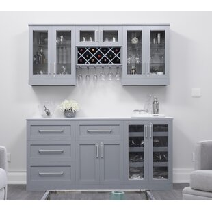 Home Shaker Style Back Bar With Wine Storage