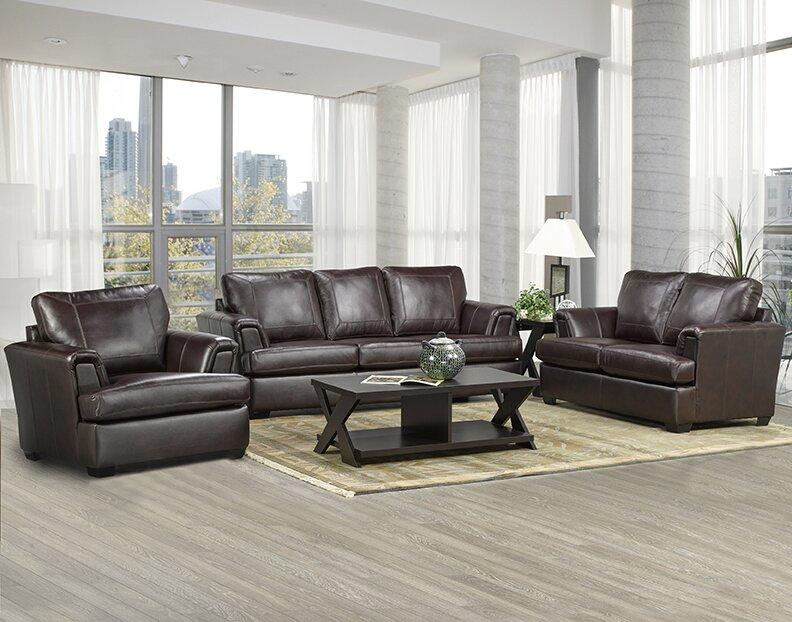 Superior Royal Cranberry Italian Leather Sofa