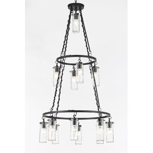 13-Light Shaded Chandelier