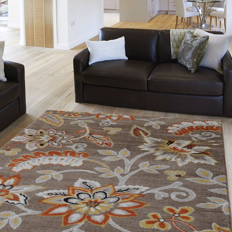 Area Rugs andover mills selina tufted brown area rug & reviews | wayfair