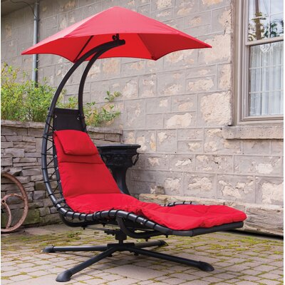 Ebern Designs Maglione 360 degrees Chair Hammock  Color: Cherry Red