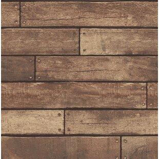 Essentials Weathered Nailhead Plank 33 X 205 Wood Wallpaper Roll
