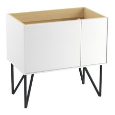 """Jute 36"""" Vanity Base with 1 Door and 1 Drawer on Left"""