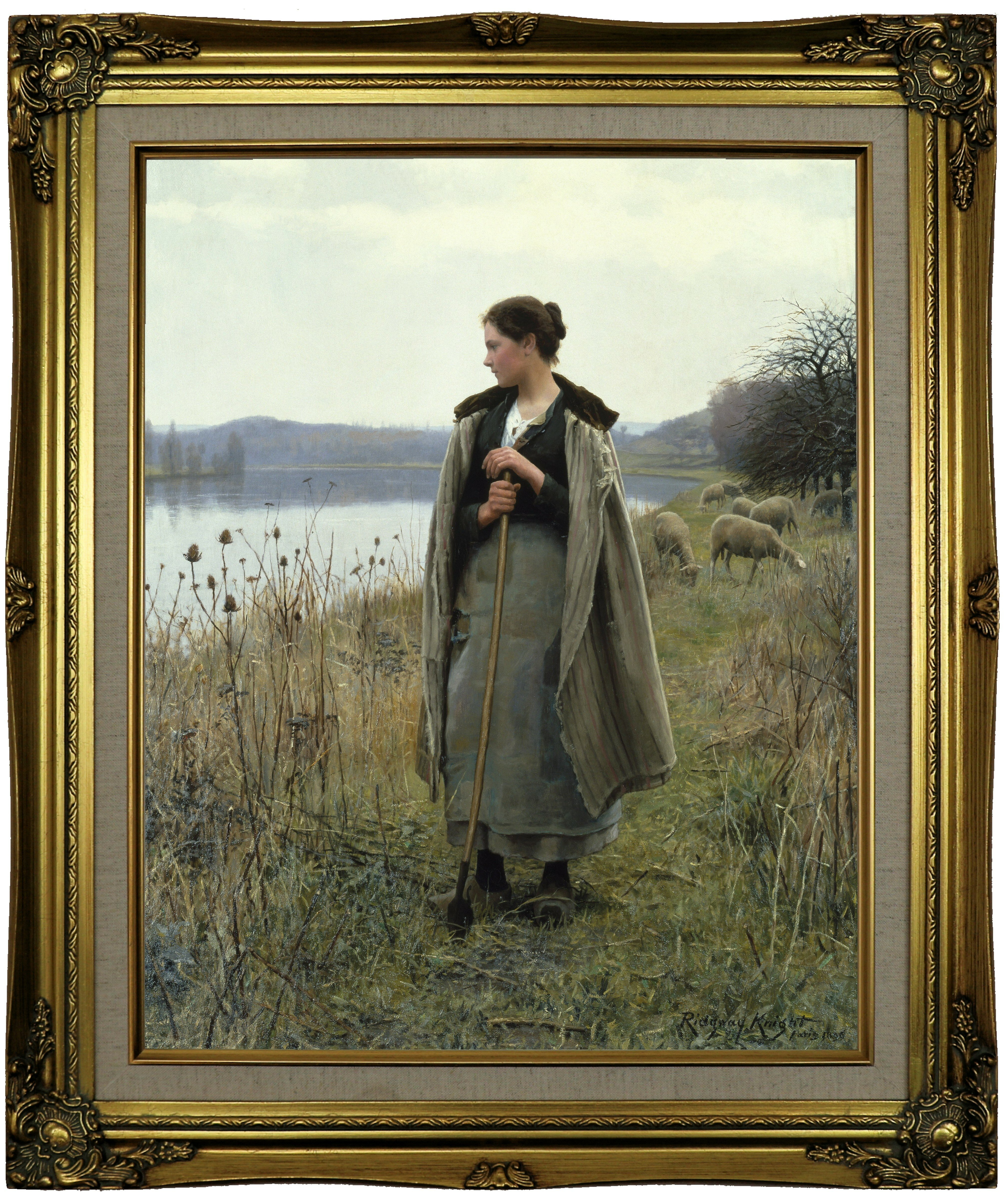 Astoria Grand The Shepherdess Of Rolleboise 1896 Framed
