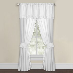 Solid Semi Sheer Curtain Panels (Set of 2)