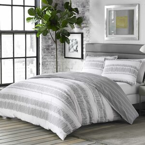 Yvette 100% Cotton Reversible Duvet Cover Set