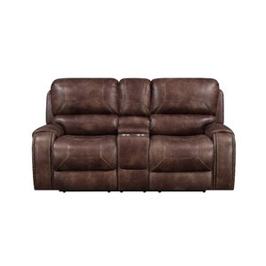 Jaymie Power Console Reclining Loveseat by Darby Home Co