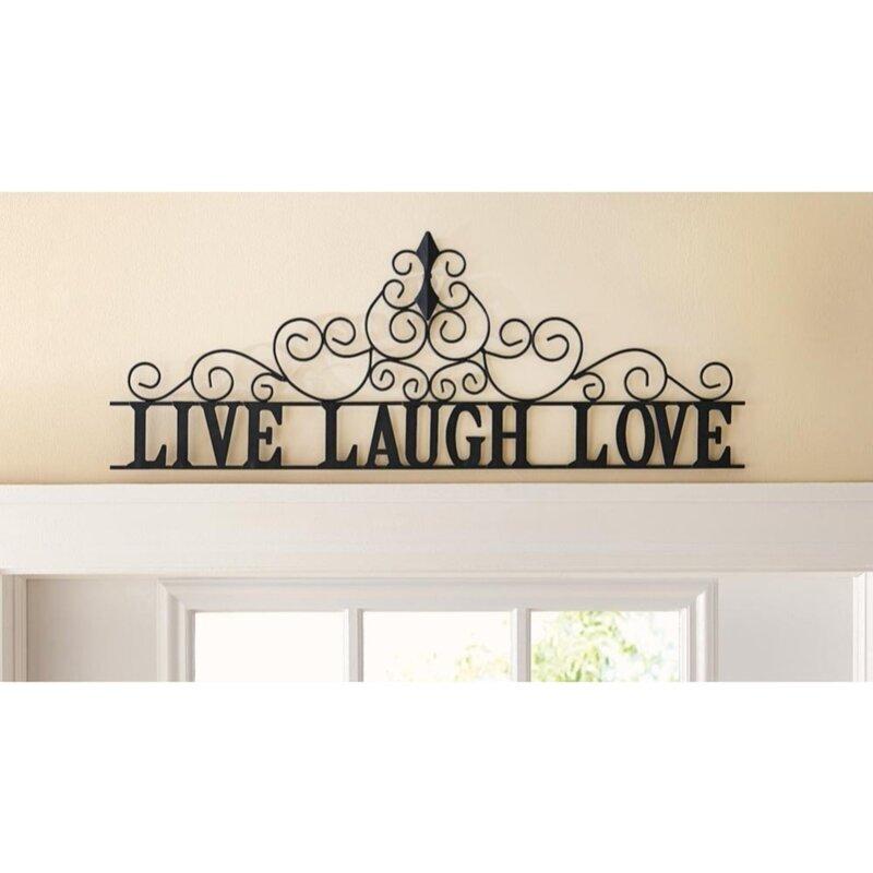 Fleur De Lis Living Live Laugh Love Metal Wall Décor & Reviews | Wayfair