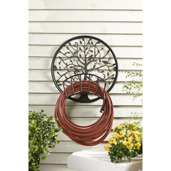 Plow Amp Hearth Tree Of Life Metal Wall Mounted Hose Holder