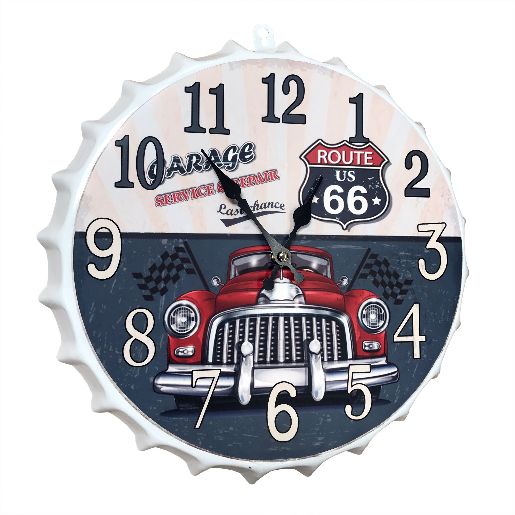 Winston Porter Contemporary Metal Cap Sign With Route 66 Garage And