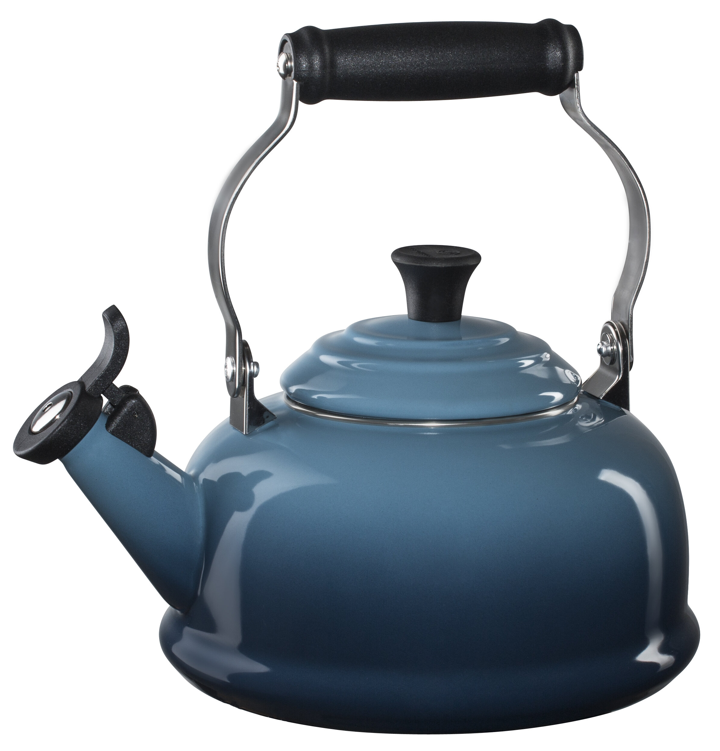 Enamel On Steel 1 8 Qt  Whistling Stovetop Kettle
