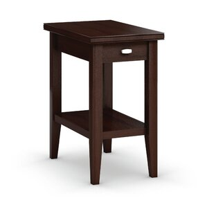 Bowery Chairside Table with Drawer by Caravel