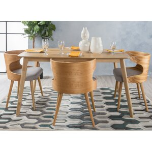 Camille 5 Piece Wood Mid Century Dining Set by Langley Street