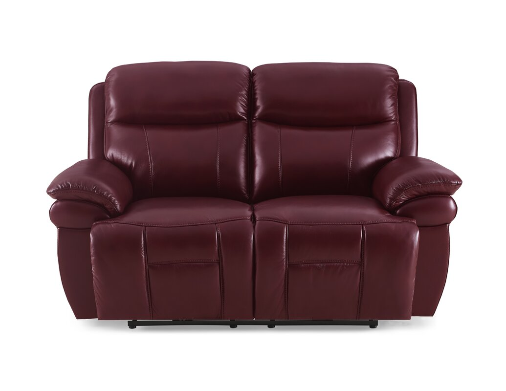 Boston Leather 2 Seater Reclining Sofa