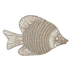 Wicker Fish Wall Decor