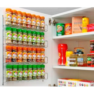 4 Tier Wall-Mounted/Cabinet Spice Rack by Belfry Kitchen