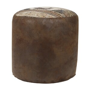 Alpine Lodge Tapestry Pouf Ottoman by American Furniture Classics