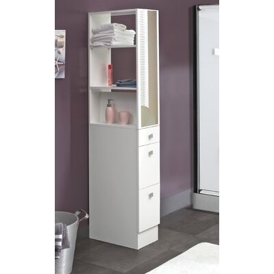 mirrored tall bathroom cabinet. Black Bedroom Furniture Sets. Home Design Ideas