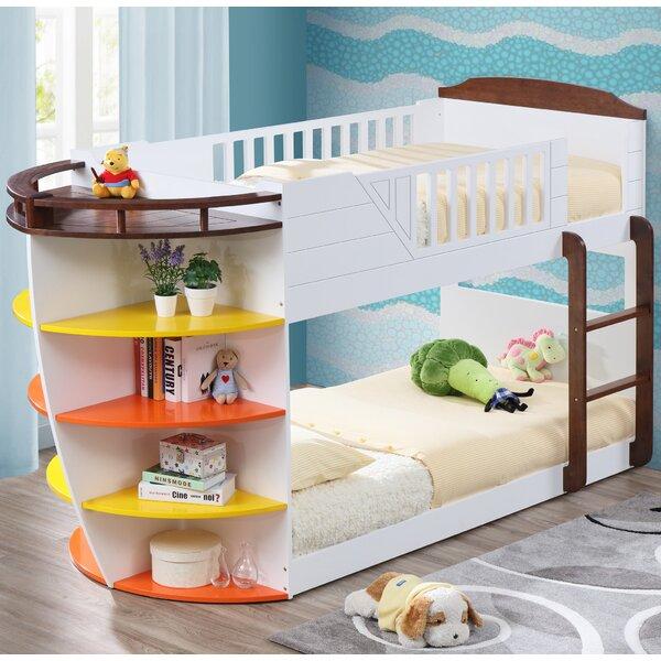 Twin Bunk Beds With Storage Part - 42: ACME Furniture Neptune Twin Over Twin Bunk Bed With Storage Shelves U0026  Reviews | Wayfair