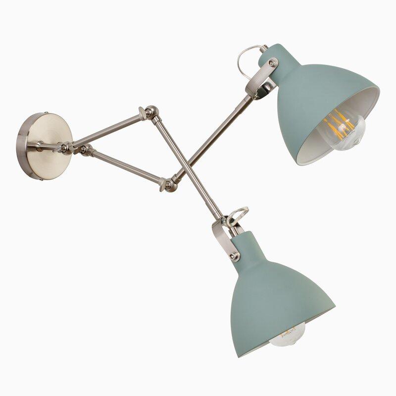 Dunsmore 2 Light Swing Arm Lamp