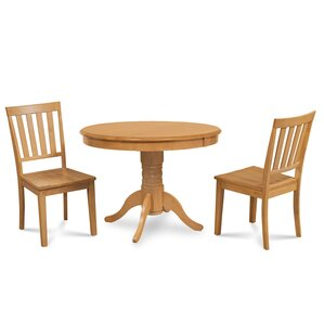 Cedarville 3 Piece Oak Dining Set by Alcott Hill