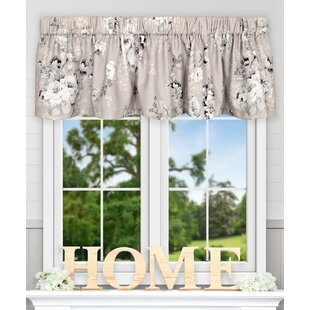 floral window valances green quickview floral valances kitchen curtains youll love wayfair