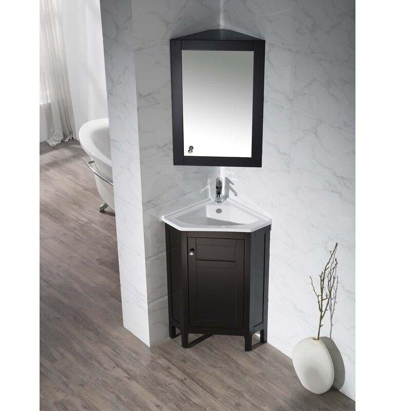 Superb Millard 24 25 Single Corner Bathroom Vanity Set With Mirror Download Free Architecture Designs Scobabritishbridgeorg