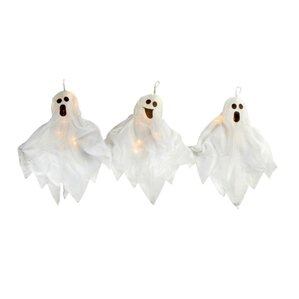 3 pieces lighted haunted halloween ghost pathway marker yard decorations lawn art set set of