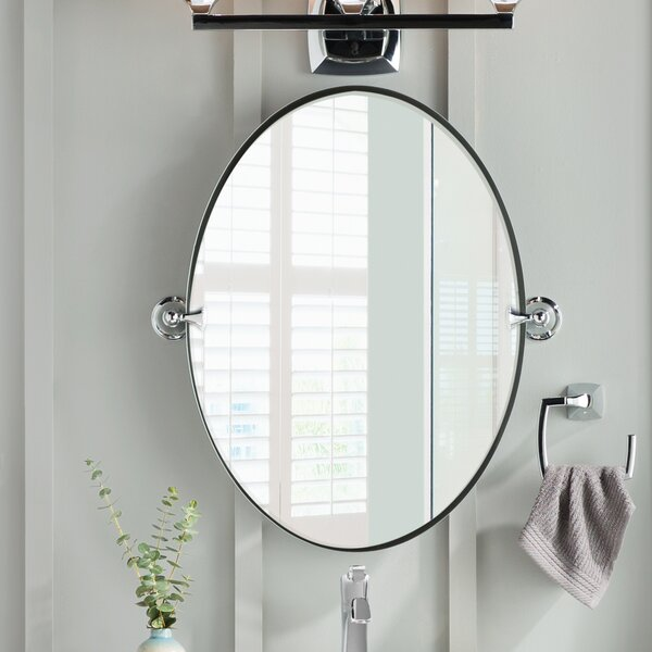 Bathroom mirrors Rectangular Wayfair Dn2692chbn Moen Glenshire Wall Mirror Reviews Wayfair