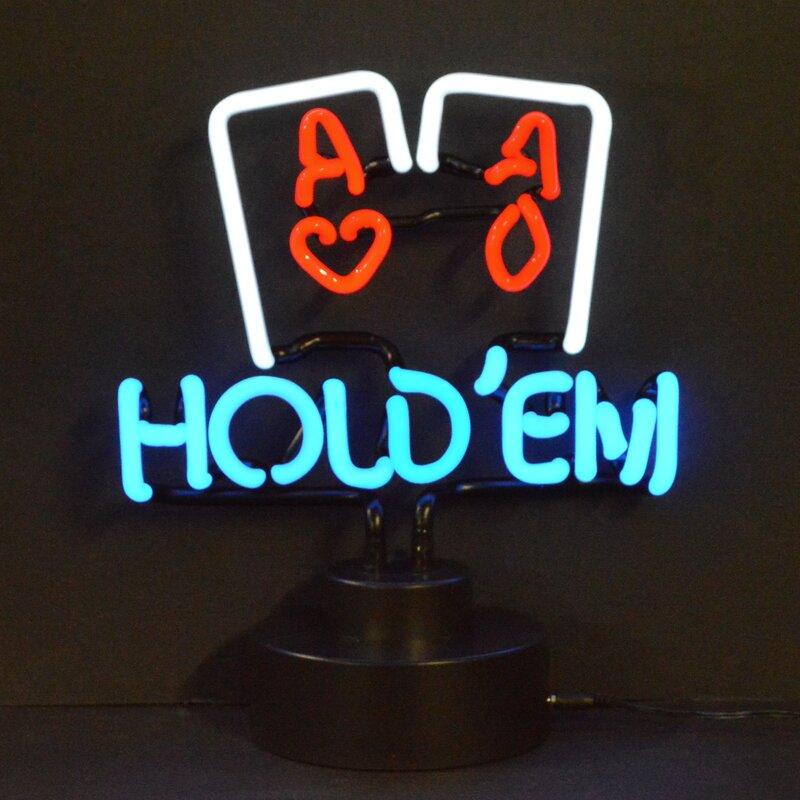 Bar & Game Room Hold Em Neon Sign